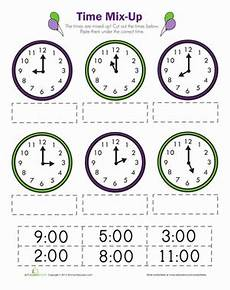 printable time worksheets for 1st grade 3732 time mix up worksheet education