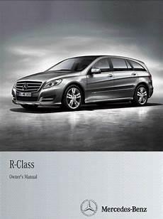 mercedes benz r class uk 2012 owner s manual pdf online download