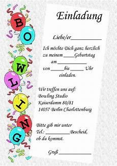 einladung kindergeburtstag bowling einladung
