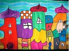 Malvorlage Hundertwasser Haus Ausmalbilder Hundertwasser