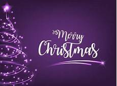 merry christmas greeting with purple background and light tree vector premium download