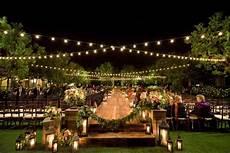 bohemian outdoor garden wedding ceremony rustic