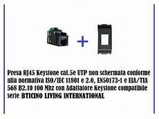 presa rj45 cat 5e utp non schermato compatibile bticino living international ebay