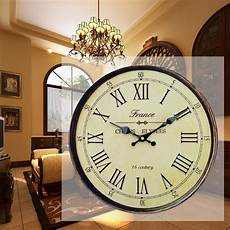clocks home decor antique clock wall rustic vintage style wooden