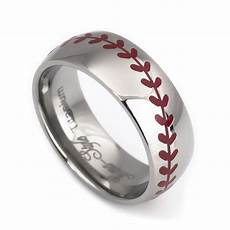 baseball laser titanium wedding rings for from anniversary and