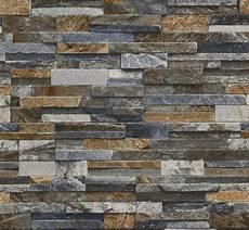 vliestapete stein vliestapete stein grau blau braun p s origin 42106 50