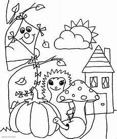 Ausmalbilder Herbst Einfach Ausmalbild F 252 R Kinder Herbst Malerklecksi