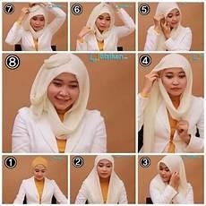 Tutorial Jilbab Pasmina Untuk Wajah Bulat