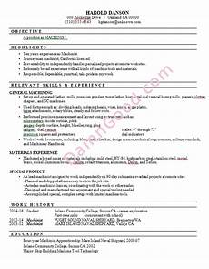 resume format iti machinist no college degree resume sles archives damn good resume guide