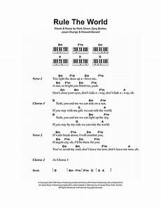 rule the world from stardust sheet music by take that lyrics piano chords 106954