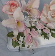 fiori di pasta di zucchero senza stini dolci creazioni by carla bouquet e orchidee in