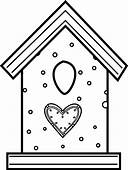 Bird House Made From Cookies Coloring Pages  Best Place