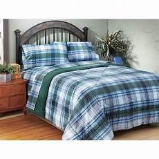 plaid bed sheets plaid sheet set 116090 sheets at sportsman s guide