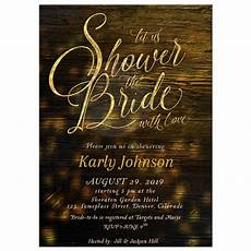 wording your bridal shower invitations rustic bridal shower invitation sparkly gold on wood