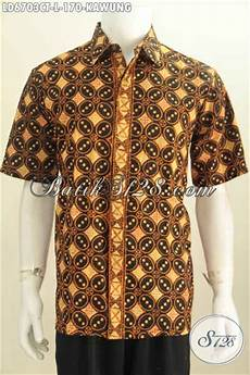 baju batik klasik motif kawung proses cap tulis pakaian batik elegan buatan solo untuk lelaki