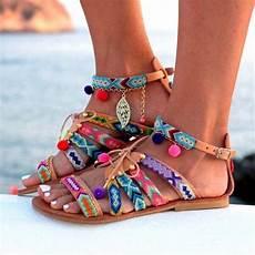 Sandale Femme Pompon 2018 Summer Flat Sandals Bohemia Flip Flops