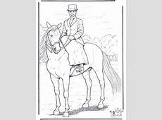 Paard met dame   Kleurplaten paarden