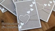 Hochzeitskarten Selber Machen - karte hochzeitseinladungen selber basteln herzen