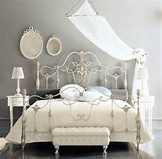 White Metal Bed Bedroom Ideas by Fancy Wrought Rod Iron Beds Curved With Silver Color And