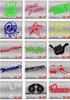 sticker fürs auto 3 st 220 ck aufkleber set auto kfz roller mofa sticker moped