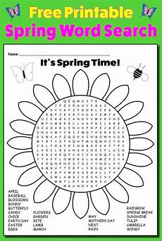 free printable spring word search supplyme