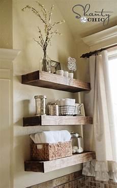 bathroom shelf ideas easy diy floating shelves shanty 2 chic