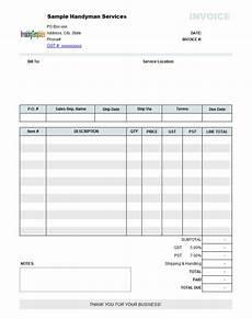 handyman receipt template handyman billing template print result gardening and
