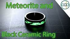 making a glowing meteorite and black ceramic wedding ring youtube