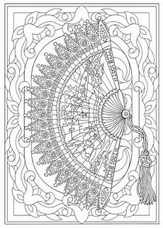 creative haven vintage hand fans coloring book dover publications mommy s coloring pages