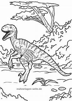 Gratis Ausmalbilder Zum Ausdrucken Dinosaurier Malvorlage Velociraptor Dinosaurier Ausmalbilder