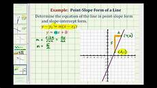 ex find the equation of a line in point slope and slope intercept form given a graphed line