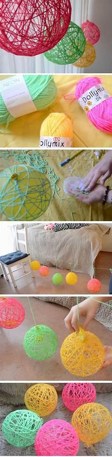 yarn orbs diy spring room decor ideas for easy