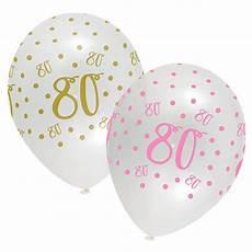 servietten 80 geburtstag luftballons quot 80 geburtstag ladylike quot 6er pack g 252 nstig