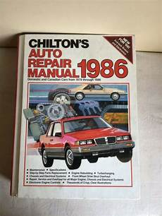 old cars and repair manuals free 1986 ford bronco ii regenerative braking vintage 1986 chiltons auto repair manual domestic canadian cars from 1979 1986 ebay