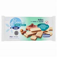 crema ai wafer senza glutine wafers con crema alla nocciola 4 x 50 g easycoop com