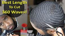 best length to cut your hair for 360 wave beginners coarse straight hair youtube