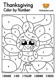 color by number thanksgiving coloring pages 18152 free thanksgiving printables 123 apps