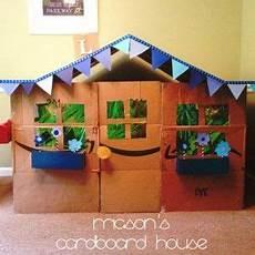 Cardboard House Tutorial Kid Style Parenting Inspo