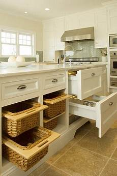 Made Kitchen Drawers by Beautiful Made Wicker Vegetable Baskets And Fridge