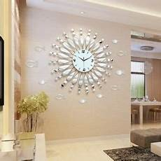 modern minimalist mirror wall clock living room decor