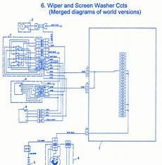 Fiat Uno 1990 Wiper Electrical Circuit Wiring Diagram
