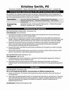 sle resume for a midlevel civil engineer monster com