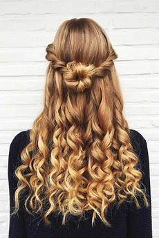 Homecoming Hairstyles Half Up Curly