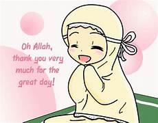 Gambar Kartun Muslim Solat