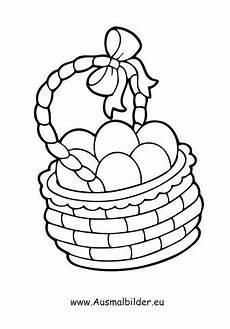 ausmalbilder ostereier im korb easter egg coloring pages