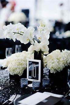 elegant black and white wedding that will wow you wedding centerpieces table numbers and