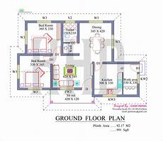 kerala style house plans free 991 square feet 2bhk kerala low budget home design with