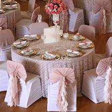 2017 new design coral wedding banquet chair cover sashes