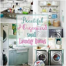 Laundry Room Organization Ideas Small Room beautifully organized small laundry rooms the happy housie