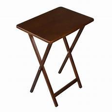 folding wooden tv tray table